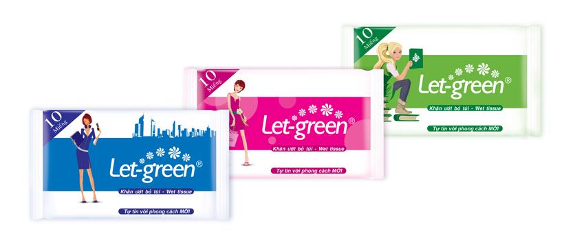 Khăn Ướt Bỏ Túi Let-green