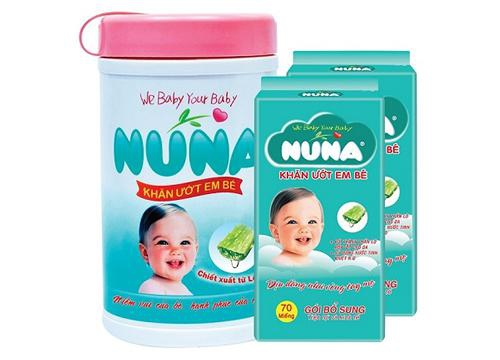 NUNA Baby Wet Wipes Canister 70pcs – Scented (1 Canister + 2 Packs of Refill Wipes)