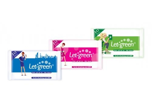 Let-green Pocket Wet Wipes