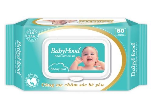 Khăn Ướt Em Bé Babyhood 80 Miếng - Không Mùi