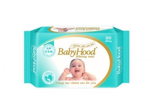 Khăn Ướt Em Bé Babyhood 20 Miếng - Không Mùi