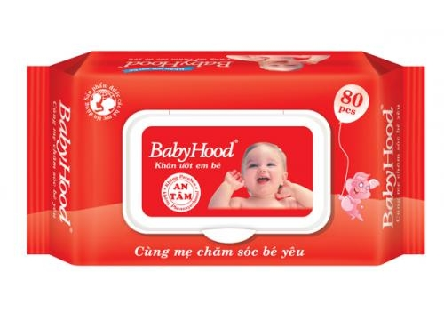 BabyHood Baby Wet Wipes  80pcs - Scented