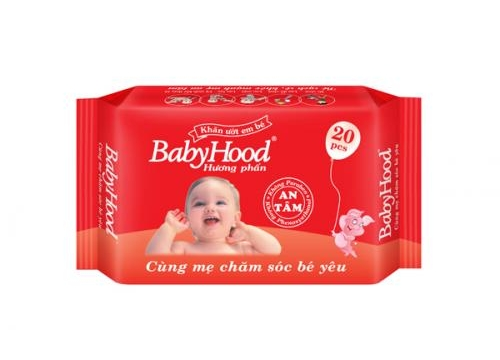 Khăn Ướt Em Bé Babyhood 20 Miếng - Hương Phấn