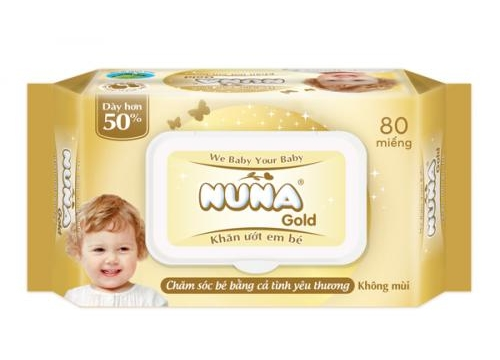 NUNA GOLD (Extra thick) Baby Wet Wipes  80pcs - Unscented