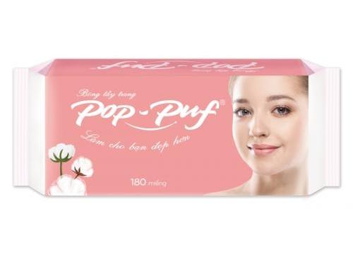Pop-Puf Edge Pressed Cotton Pads 180pcs