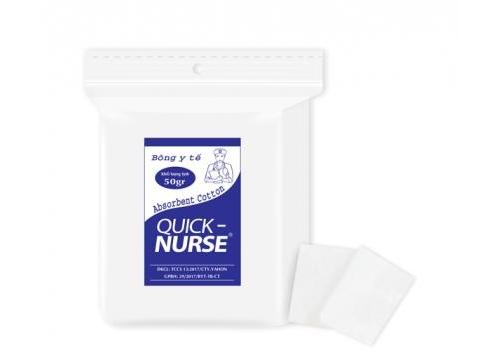 Bông cắt Quick-nurse 3cm*3cm - 50gr