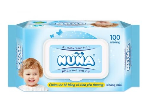 NUNA Baby Wet Wipes 100pcs - Unscented